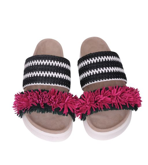 Inuikii - Sandale mit Lederfransen