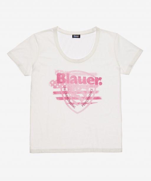 Blauer USA - T-Shirt mit rosa Print