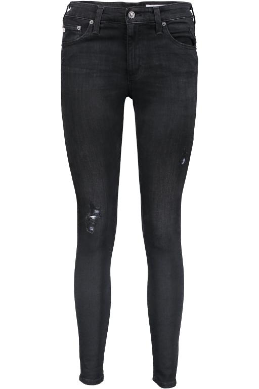 AG Jeans - The Farrah Skinny Destroyed schwarz