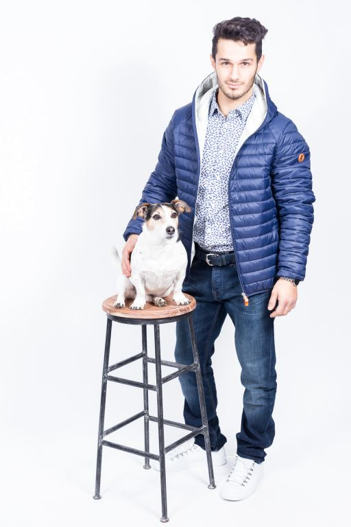 Save The Duck - Herren Steppjacke mit Kapuze navy