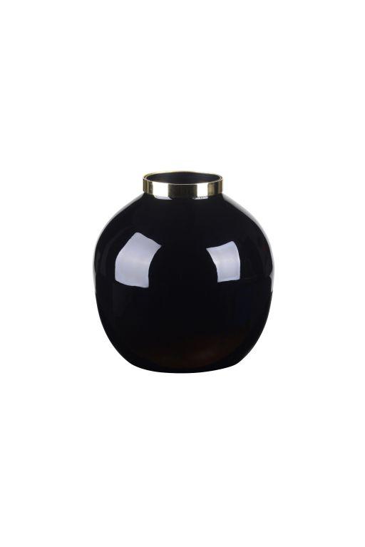 Saigon Vase mit Metallring Kugel klein