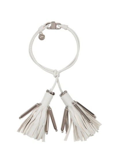 Dorothee Schumacher - Tassel Addiction Lederarmband weiß