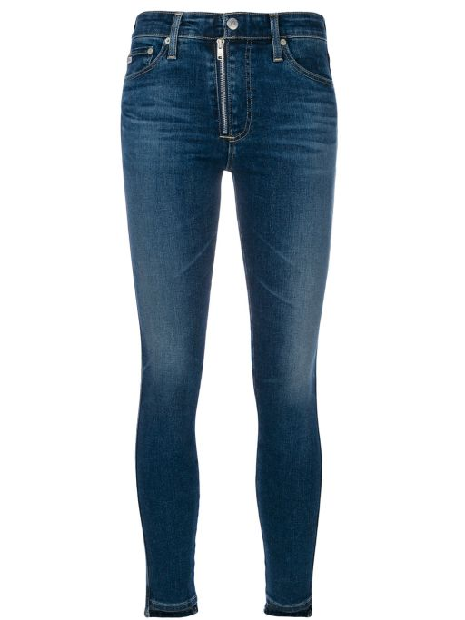AG Jeans - The Farrah Skinny Ankle Front Zip