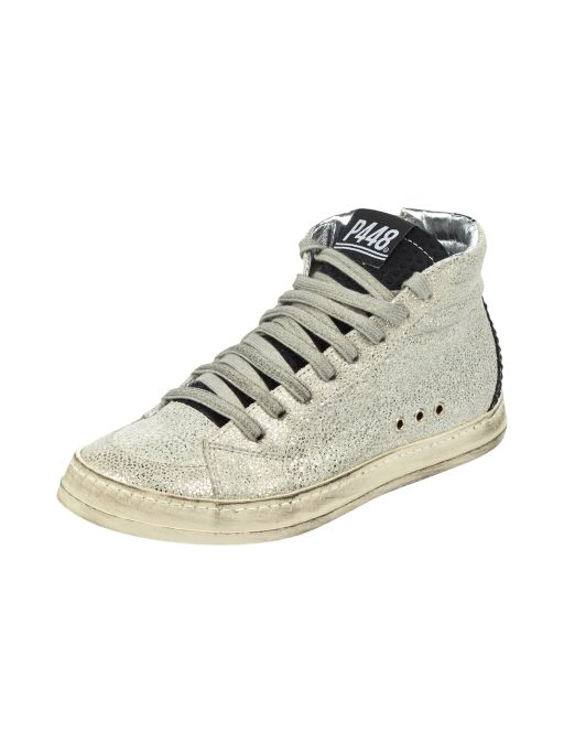P448 - High Top Sneaker silbergrau