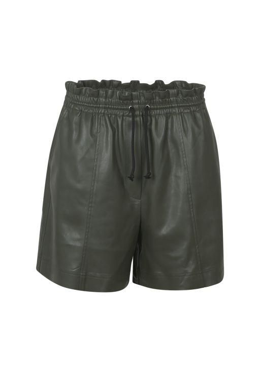 lala Berlin - Bermuda-Shorts in Lederoptik