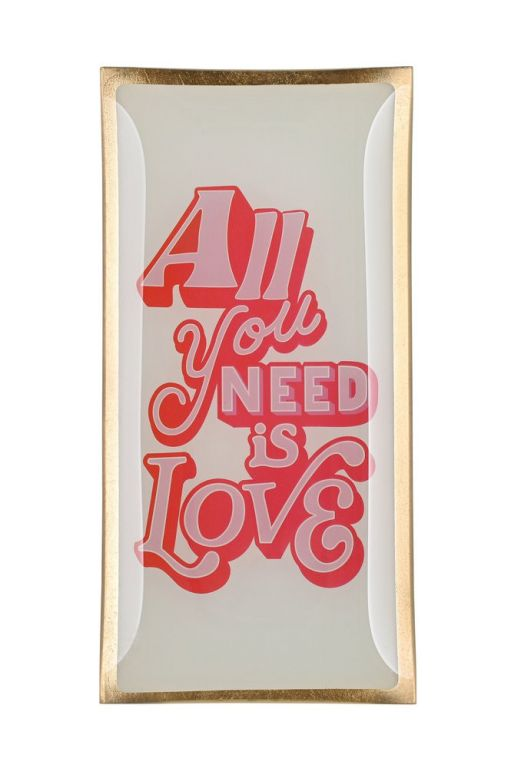 Glasteller All you need is Love