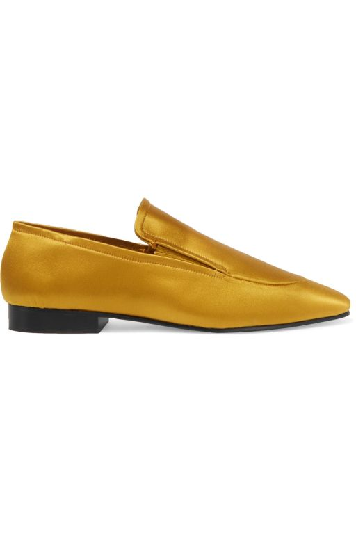 Joseph - Loafer in goldgelben Satin