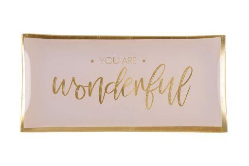 Glasteller L you are wonderful