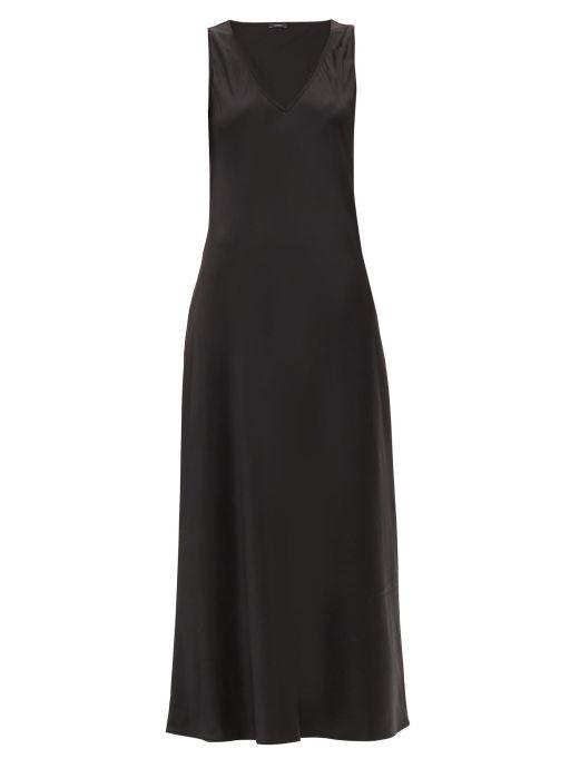Joseph - Seiden-Satin Kleid schwarz