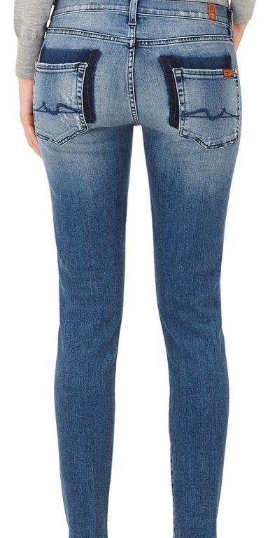 7 For All Mankind - The Skinny Jeans mit versetzter Gesäßtasche