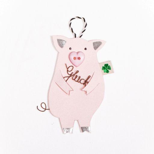 Glücksschweinchen mit Glück