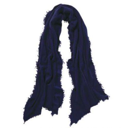 Pur Schoen - Handgefilzter Cashmere Schal navy blue