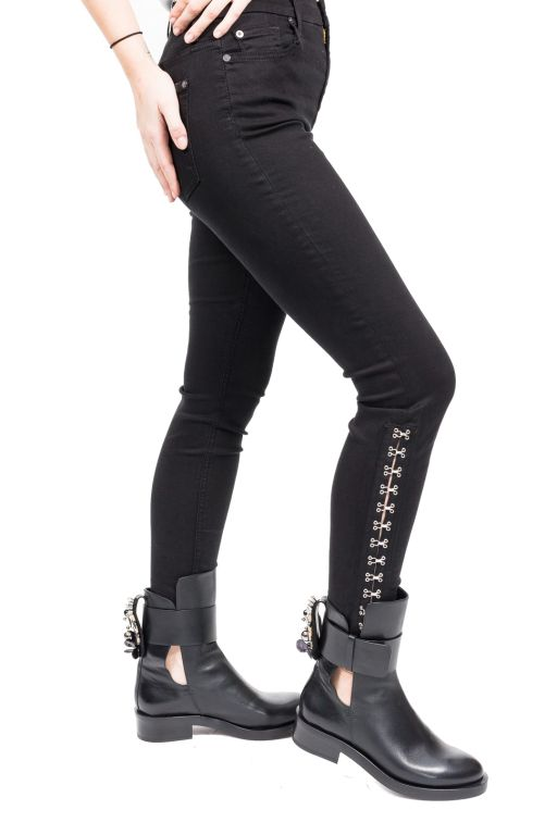 7 For All Mankind - High Waist Hook & Eye Skinny Ankle Jeans