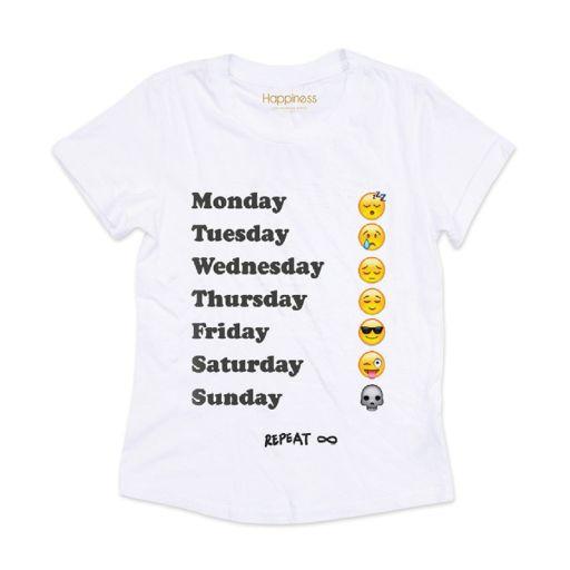 "Happiness - T-Shirt Splendida ""Monday"" weiss"