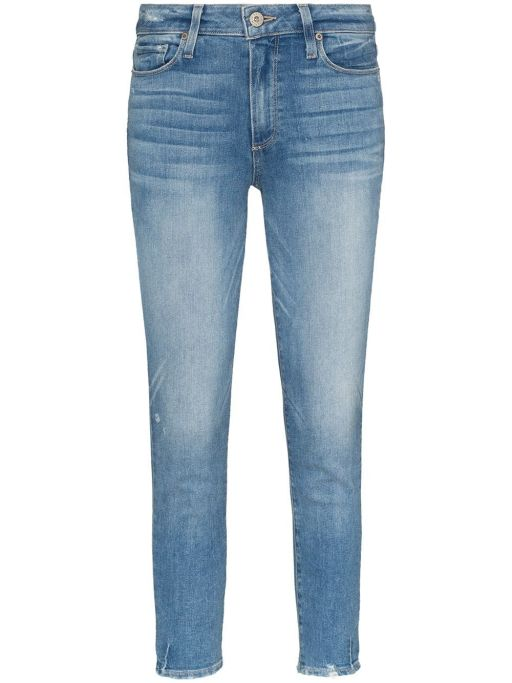 Paige - Jeans Hoxton Crop helle Waschung