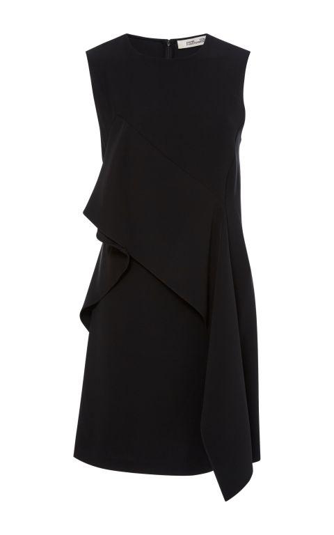 Diane von Fürstenberg - Schwarze Minikleid mit Volant