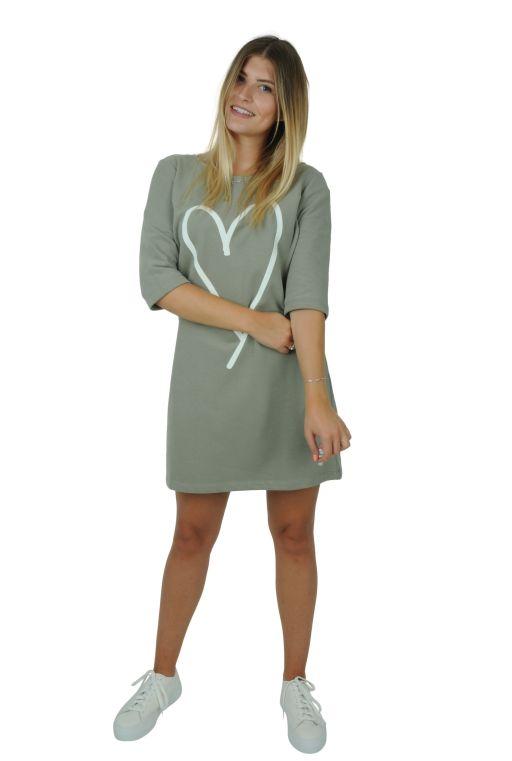 Better Rich - Sweatshirt Kleid mit Herzprint