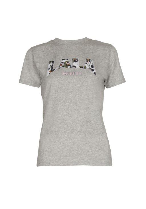 lala Berlin - T-Shirt Reda lala Leo grey melange