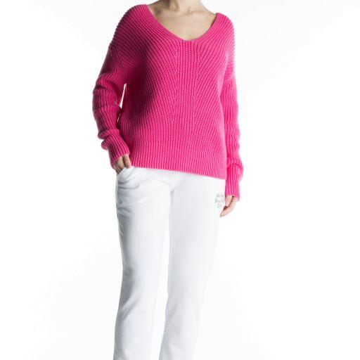 Better Rich - Baumwollpullover mit V-Ausschnitt pink