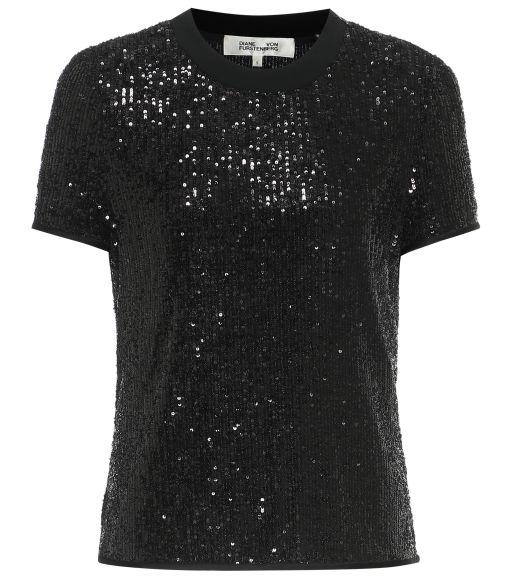 Diane von Furstenberg - Shirt mit Paillettenbesatz