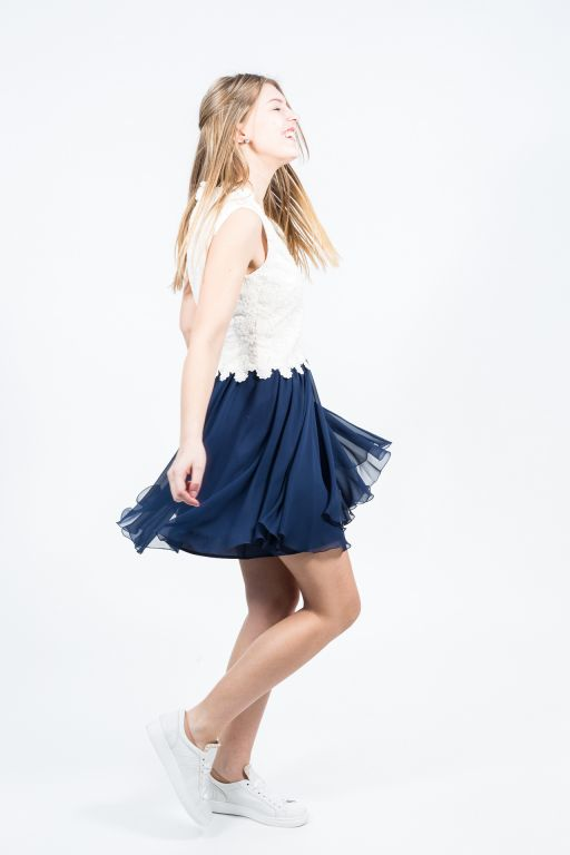 MaxMara - Kleid aus besticktem Chiffon