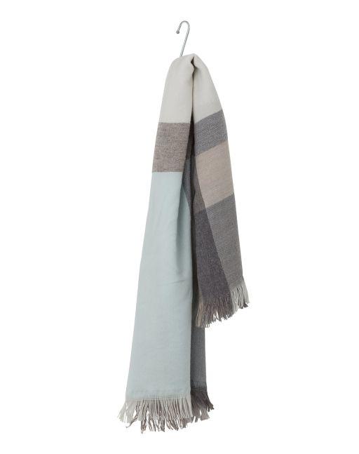 René Lezard - Großer Schal mit Fransen