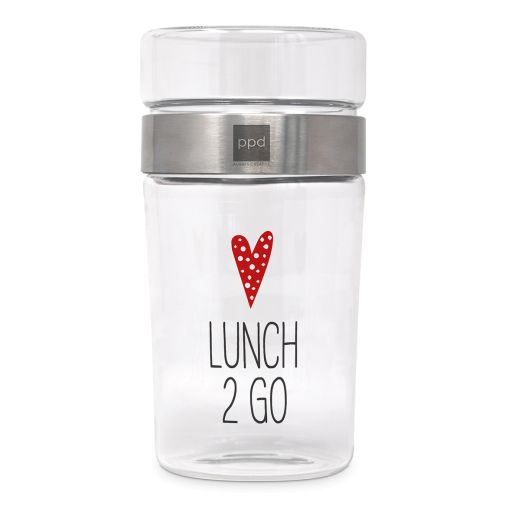 """Snack2go Glas """"Lunch 2 go"""""""
