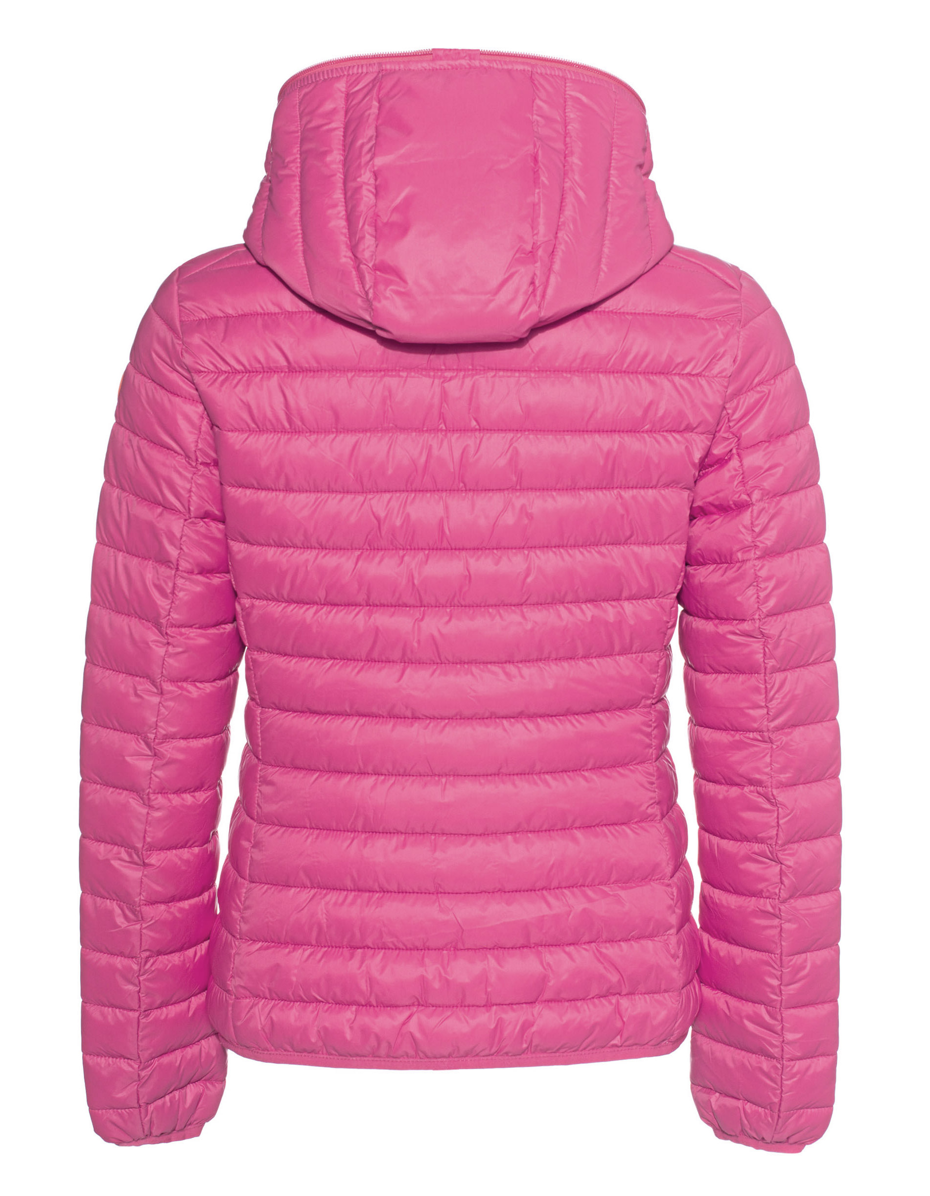 Save The Duck Wattierte Jacke mit Kapuze pink