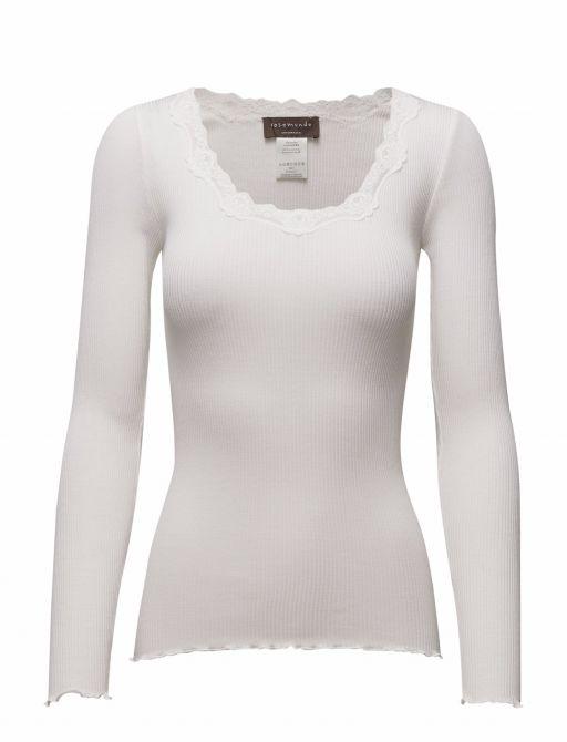 Rosemunde - Shirt langarm mit Spitze new white