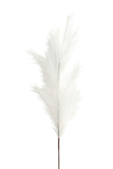 Pampas Deko-Zweig weiß