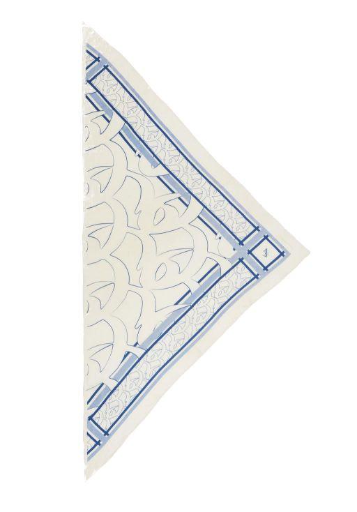 lala Berlin - Dreieckstuch Big Monogram M blue