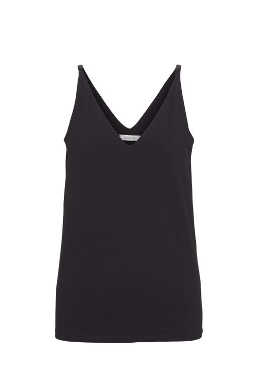 Dorothee Schumacher - Basic top mit V-Ausschnitt schwarz