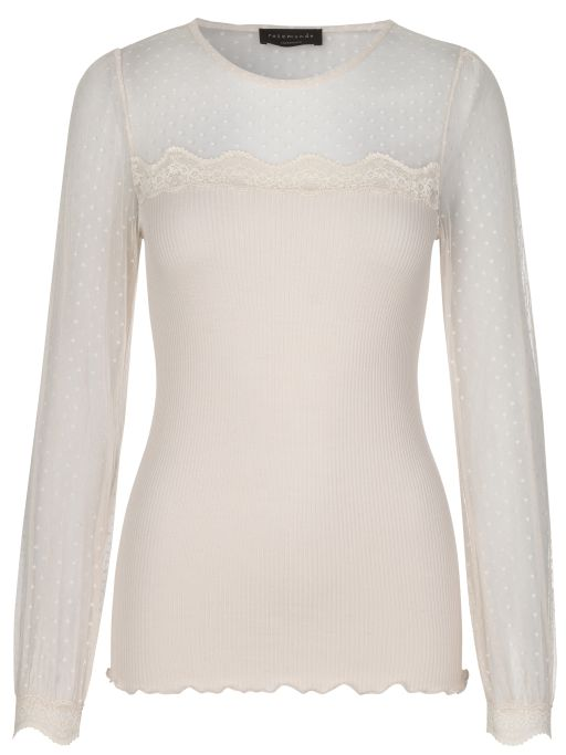Rosemunde - Blusenshirt mit transparentem Arm soft powder