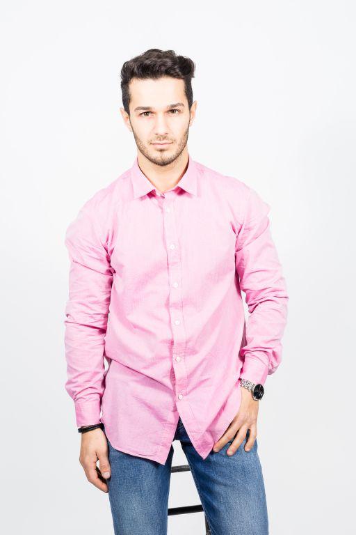 Hartford - Herren Hemd pink chambray