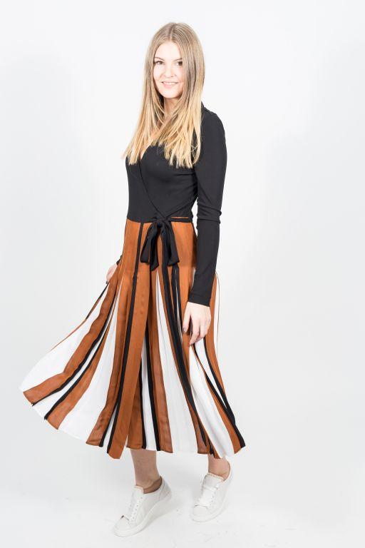 Diane von Fürstenberg - Wickel Maxi-Kleid im Colour Block