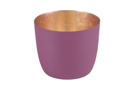 Windlicht Madras burgundy/gold