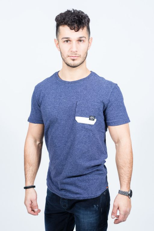 Superdry - Herren Surplus Goods Pocket Tee brooklyn blue