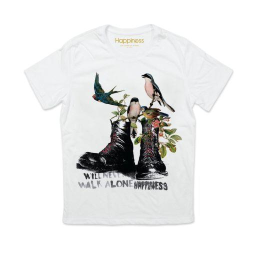 "Happiness - T-Shirt Splendida ""Walk alone"" weiß"
