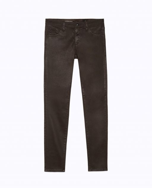 AG Jeans - The Legging Ankle aus Kunstleder dark oa