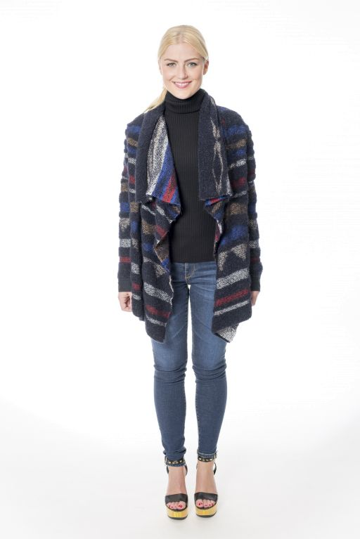 Marc Cain - Strickjacke mit Materialmix