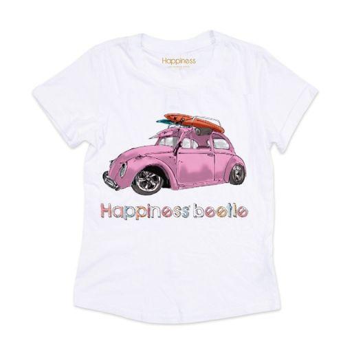"Happiness - T-Shirt Splendida ""Happy Beetle"" weiß"