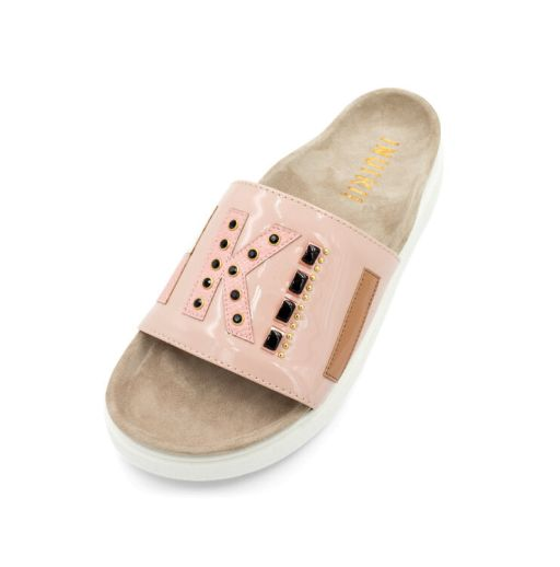 Inuikii - Sandale mit Logoriemen rosa