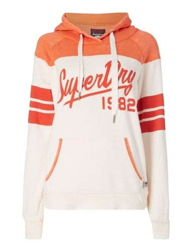 Superdry - Vintage Colour Block Hoodie ripe red/winter white