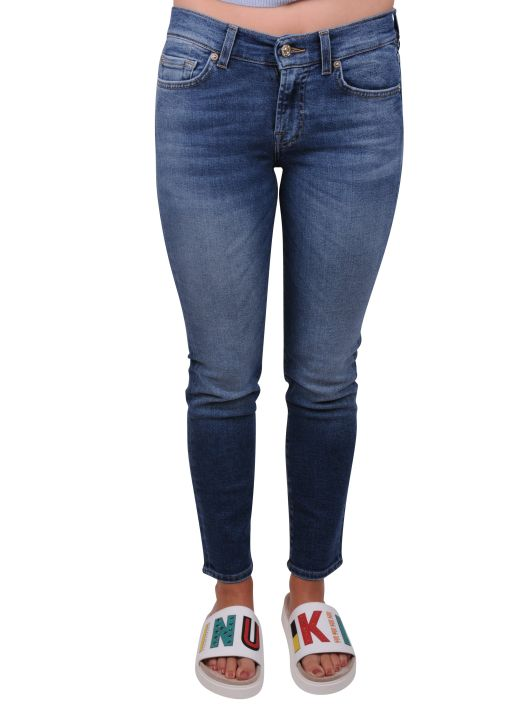 7 For All Mankind - Mid Rise Roxanne Crop Luxe Vintage
