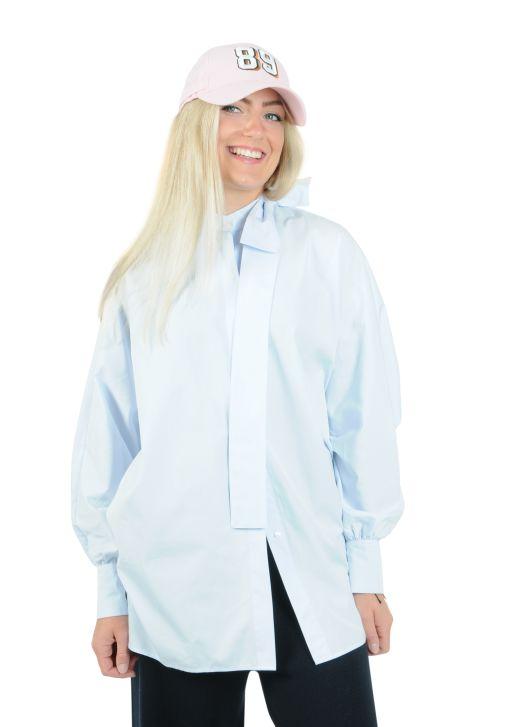 Eva Mann - Weite Bluse mit Raglanärmel blue Isabelle