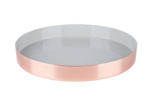 Tablett Layer grau-kupfer