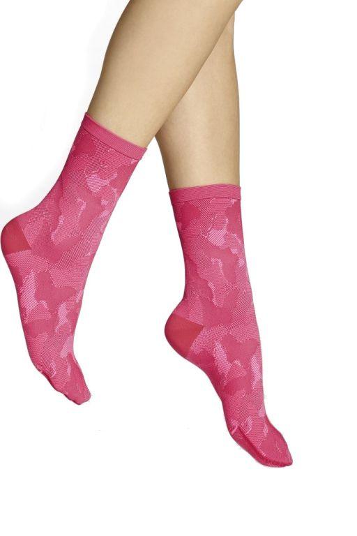 ITEM m6 - Festival Rockstar Socks in pink-red