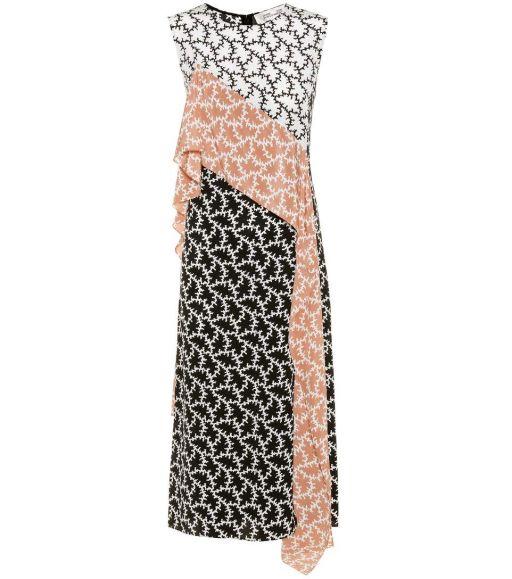 Diane von Fürstenberg - Seiden Kleid Ruffle