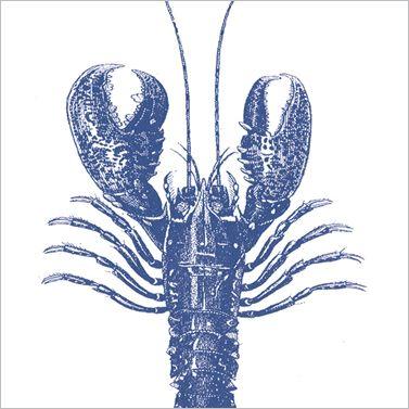 Serviette Lobster blau