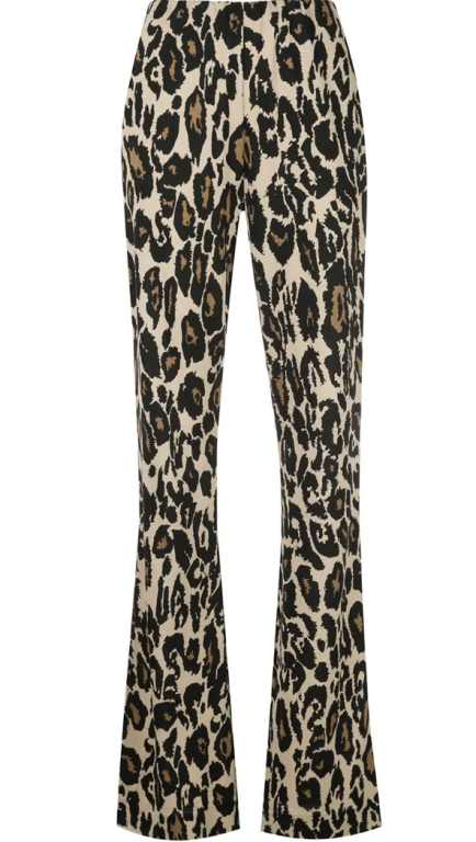 Diane von Furstenberg - Seiden Jersey Hose Leopard